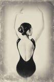 Ballet Dancer. Vintage ballet dancer. Image of a dancer using ancient technique, Ballerina stock images