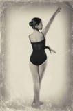Ballet Dancer. Vintage ballet dancer. Image of a dancer using ancient technique, Ballerina stock image
