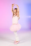 Ballet dancer. Studio portrait of little ballet dancer stock image