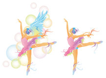 Ballet dancer with abstract concept Royalty Free Stock Image