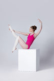 Ballet dancer. attractive young woman gymnast on a Royalty Free Stock Photo