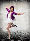 Ballet dancer, ballet concept of classic and modern Stock Photography