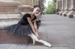 Ballet dancer. Beautiful Ballet dancer (ballerina) outdoors Royalty Free Stock Photos