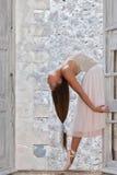 Ballet dancer with beautiful long hair Stock Photos
