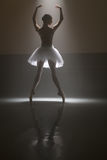 Ballet dancer from behind Royalty Free Stock Images