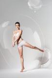 Ballet dancer in big bubble Stock Photos