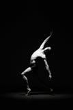 Ballet dancer in black Stock Photos