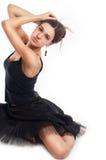 Ballet dancer in black dress Royalty Free Stock Image
