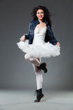 Ballet dancer in the boots Royalty Free Stock Photos