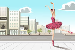 Ballet dancer in the city Stock Photo