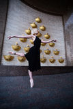 Ballet dancer on the city street Royalty Free Stock Images