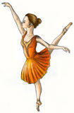 Ballet dancer (color) Stock Photo