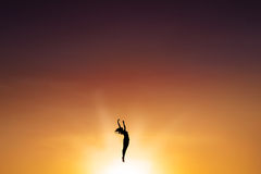 Ballet dancer dancing on the air Royalty Free Stock Image