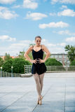Ballet dancer dancing outdoor Stock Photography