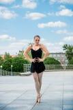 Ballet dancer dancing outdoor Stock Photography