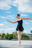 Ballet dancer dancing outdoor Royalty Free Stock Images