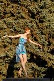 Ballet dancer dancing on outdoors Royalty Free Stock Photos