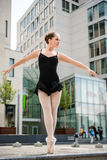 Ballet dancer dancing on street Stock Photography