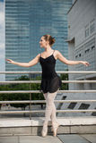 Ballet dancer dancing on street Royalty Free Stock Image