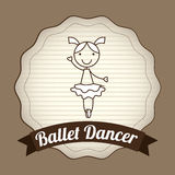 Ballet dancer design Royalty Free Stock Images
