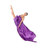 Ballet dancer do swing leg splits Royalty Free Stock Image