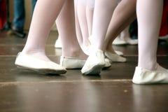Ballet dancer feet. Soft and elegant, little ballerinas study ballet stock photos