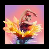 Ballet dancer and flower stock illustration