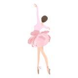 Ballet Dancer in Flower Tutu Skirt. Vector illustration of graceful ballet dancer in tutu skirt on clear/white background Royalty Free Stock Photo