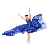 Ballet dancer in the flying dress Stock Images