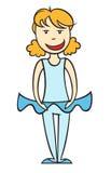 Ballet dancer girl Stock Photos