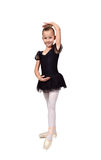 Ballet dancer girl in black tutu Stock Photo