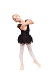 Ballet dancer girl in black tutu Royalty Free Stock Photography