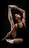 Ballet dancer holding pose Stock Images