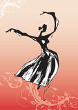 Ballet dancer illustration Stock Image