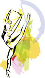 Ballet Dancer illustration Royalty Free Stock Photos