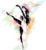 Ballet Dancer illustration Stock Photos