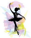 Ballet Dancer illustration Royalty Free Stock Images