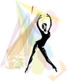 Ballet Dancer illustration Royalty Free Stock Image