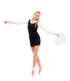 Ballet dancer in the image of a business woman Stock Photo