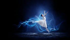 Ballet dancer in jump stock photos