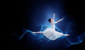 Ballet dancer in jump vector illustration