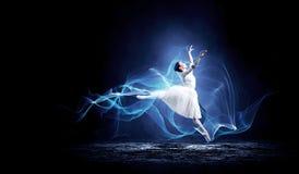 Ballet dancer in jump royalty free stock photos
