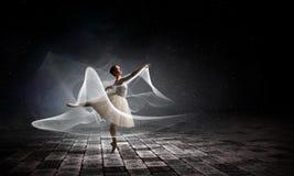 Ballet dancer in jump stock photo