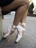 Ballet dancer legs royalty free stock photography