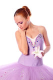 Ballet dancer with lily Stock Photo
