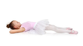 Ballet dancer lying on the floor Royalty Free Stock Photos