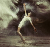 Ballet dancer in the magic dust figure Royalty Free Stock Photo