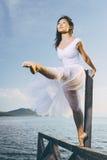 Ballet dancer outdoor Royalty Free Stock Photos