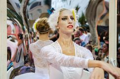 Ballet dancer - .Participant of Living Statues festival in Rishon Lezion royalty free stock images