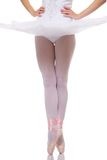 Ballet dancer on a pointe. Stock Photography